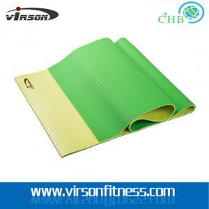Quality Virson double layer colour eco-friendly PVC material yoga mat for sale