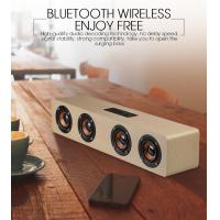 China Hifi Bluetooth Speakers Wireless Stereo Subwoofer Altavoz Wood Home Audio Desktop Speaker on sale