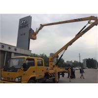 Quality Yellow Truck Mounted Boom Lift , Truck Mounted Aerial Platform 12V / 24V Voltage for sale