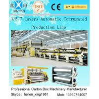 Quality 3 Layers Corrugated Packaging Box Making Machine 70m * 8.2m * 4.5m For Paperboard for sale