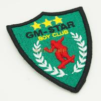 Iron On Backing Custom Made Embroidered Badges For Clothing OEM / ODM Service