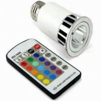Quality Energy saving Aluminum Alloy 5w 220v fade RGB LED gu10 colored spotlight for sale