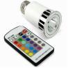 Buy cheap Energy saving Aluminum Alloy 5w 220v fade RGB LED gu10 colored spotlight from wholesalers