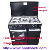 China Free Standing Gas 5 Burner Range Stove with Oven on sale