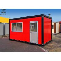 Quality Red Flat Pack Container House , Single Container House For Living / Administration for sale