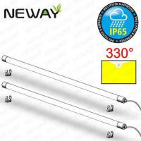 Quality 20W 4FT 1550-2050LM IP65 Waterproof LED T8 Fluorescent Tube Dia. 40MM Linear LED Ceiling Tube Light Daylight White 4000K for sale