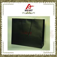 Buy cheap Black Glossy / Matte Lamiantion Custom Paper Shopping Bags With Cotton Handle from Wholesalers