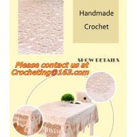 China Handmade cotton lace crochet table cloth table runner American Rural nostalgia sofa cloth on sale