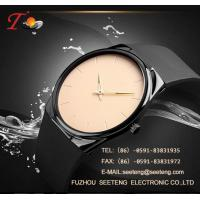 China Silicone strap  with alloy case and color customized dial watch silicone watch on sale