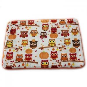 Quality Lovely Owl Printed Memory Foam Bath Mat 20 X 30cm Size Eco - Friendly Stocked Anti Slip for sale