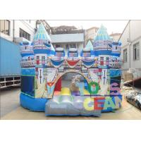 China Birth Blue Kids Inflatable Bounce House For Rent Folding Transparent on sale