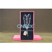 Buy cheap Solid Luxury Cardboard Jewelry Boxes , Removable Insert Pads For Necklace from Wholesalers