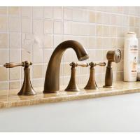 2016 Antique Brass Classic Widespread Tub Faucet with Hand Shower FBT0677