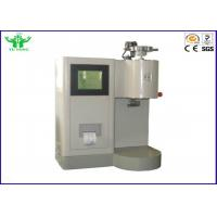 Quality Plastic Material ASTM D1238 Flammability Testing Equipment / Melt Flow Index Tester Color With Touch Screen Display for sale