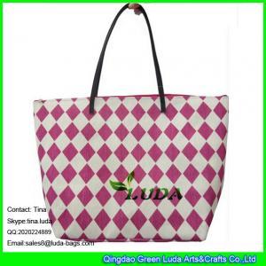 Quality LUDA red beach women handbags paper straw fashion bags for sale