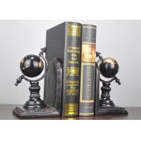 Quality Black Plated Resin Decoration Crafts , Study Room Globe Book Holder for sale