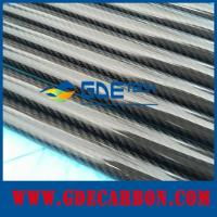 Quality Glossy pultrusion carbon fiber tube for sale