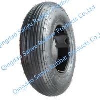 Quality 4.80/4.00-8 Wheelbarrow tire tubeless type thin rubber covered for sale