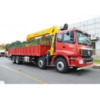 Quality 14 Ton truck mounted telescopic boom crane Driven By Hydraulic , 35 TM for sale