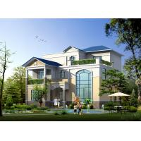 China Prefabricated House, Prefabricated Rural Villa With Light Steel Frame on sale