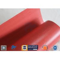 Buy cheap 1000mm Wide 50m Long 40/40g Double-sided Red Silicone Coated Fiberglass Fabric from wholesalers