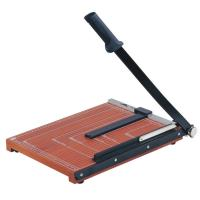 Buy cheap Wooden Base Guillotine Manual Paper Cutter 12 Sheets Cutting Capacity from Wholesalers