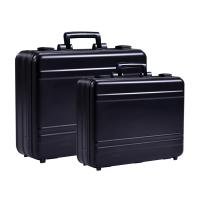 China MS-M-01 B Anodize Black Aluminum Briefcase Aluminum Attache Tool Case for sale