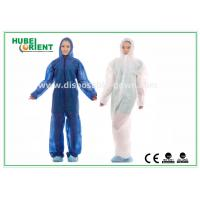 Quality Hooded Disposable Protective Coverall With Elastic Wrist / Ankle / Waist,with feetcover or without feetcover for sale