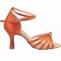 Quality Latin Dance Shoes, Various Styles are Available, Made of Satin for sale