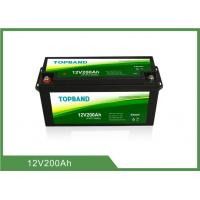 Quality Bluetooth APP 12V 200Ah Lithium Iron Phosphate Battery Customize With Heating Film for sale