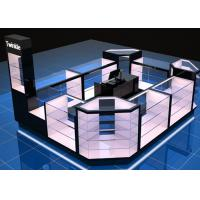 Quality Custom Mall Kiosk / Jewelry Showcase Kiosk Full View 4 Layers Shelves for sale