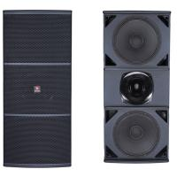 China Dual 15 bass professional hi-fi passive speaker with horn tweeter on sale