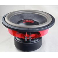 Black And Red Loudest High End Car Subwoofers / High End Stereo Speakers With Eva Gasket
