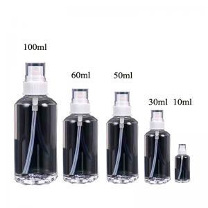Quality 10ml,30ml,50ml,60ml,100ml PE empty bottle with pump sprayer, Wholesale plastic PE bottle empty bottle used for Cosmetics for sale