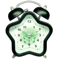 Plastic analog table twin-bell clock with colorful clock face