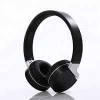 China Comfortable Black Bluetooth Noise Cancelling Headphones ABS Material on sale