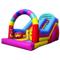Buy Colorful Big Party Teens Arch Large Inflatable Slide Digital Printing Fireproof at wholesale prices