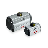 Quality AT pneumatic rotary actuator with valve and switch box for sale