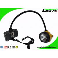 Quality Brightness 15000lux Mining Cap Lamp Aluminum Lighting Cup Low Power Warning for sale