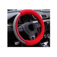 Quality Luxury Design Bling Bling Steering Wheel Cover With Durable Red Fur Material for sale