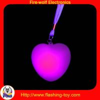 Quality Customized Hot Valentine Gifts PVC 3 LED Flashing heart necklace HL-C33 for sale