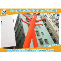 Quality Large Orange Wacky Arm Waving Inflatable Tube Man With Heat Transfer Printing for sale