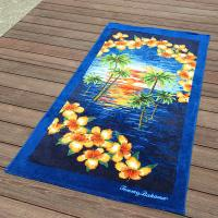 Quality Rush Imprint Custom Beach Towel ISO9001 OEKO Authorized Manufacture for sale