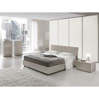 Quality European High Gloss Bedroom Furniture With Khaki Storage Bedroom Set for sale