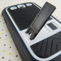 Quality UK Style White Cute Case For Samsung Galaxy S3, TPU + P Stand Cell Phone For Samsung Phone Case for sale