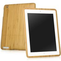 Quality Unique Handcrafted Natural Slim Wood Eco Friendly Bamboo IPad Case With Protective Felt for sale