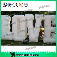 Quality Customized Party Nylon Cloth Red Inflatable Decoration / Inflatable Letters for sale