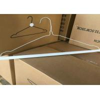 "Quality 16"" 2.2mm Metal Wire Hangers For Laundry , Spray Paint Hangers Long Life for sale"