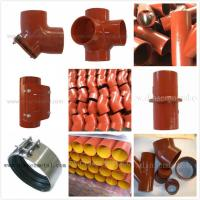 China EN877 SML cast iron pipe,red epoxy coated on sale