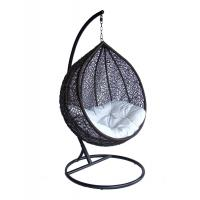 Quality Hanging single seat Resin Wicker swing Egg Chair & Stand & Cushion for sale